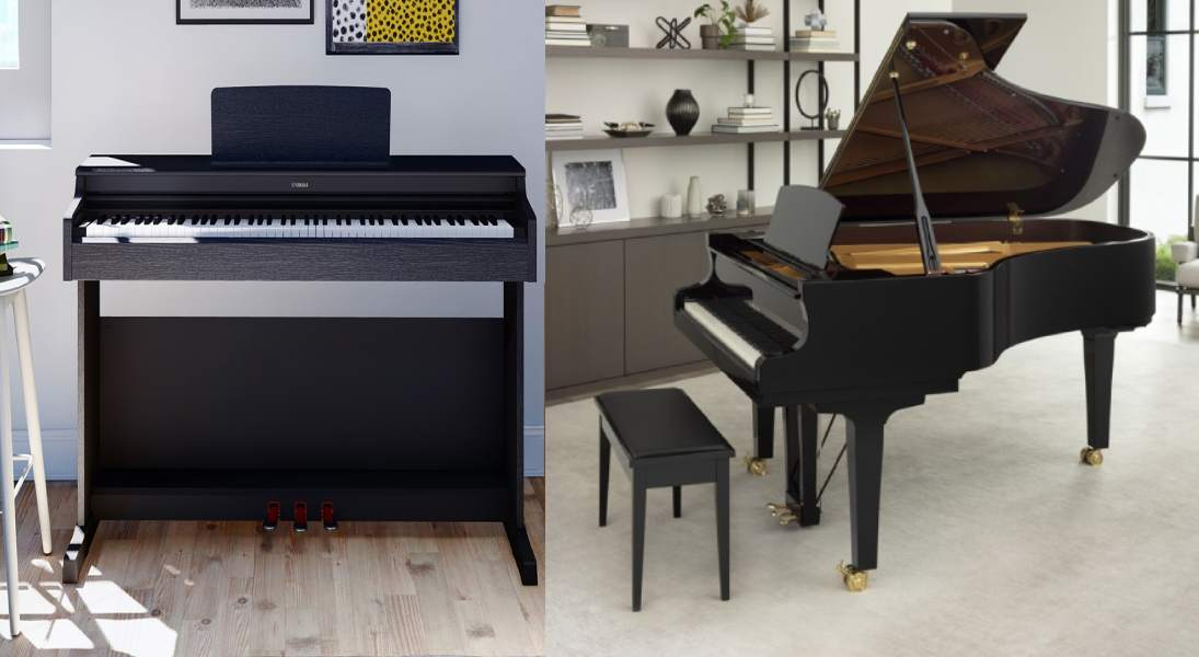 تفاوت پیانو آکوستیک و دیجیتال