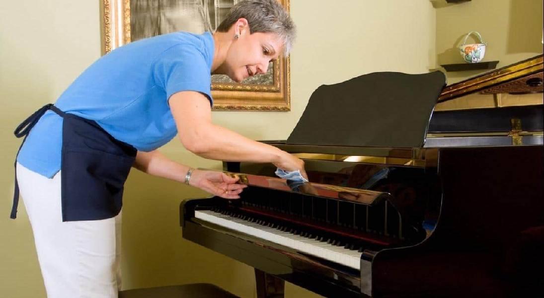 تمیز کردن پیانو دیجیتال