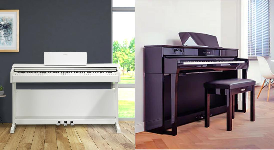 مقایسه پیانوهای YDP و CLP
