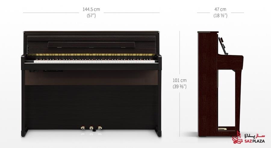 ابعاد پیانو دیجیتال