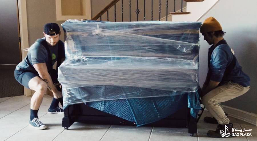 برای حمل پیانو از بستهبندی مناسب استفاده کنید