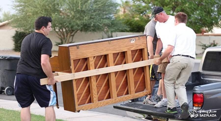 حمل پیانو با ماشین های مخصوص حمل پیانو و باربری